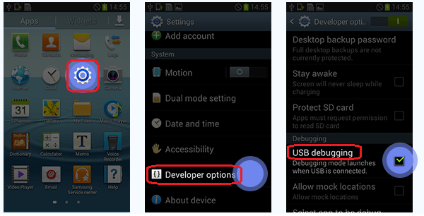 enable usb debugging on android 4.0
