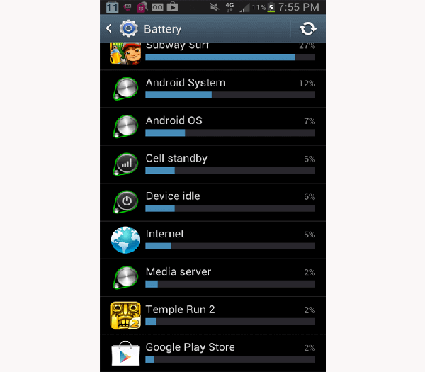 save power for android phone battery use