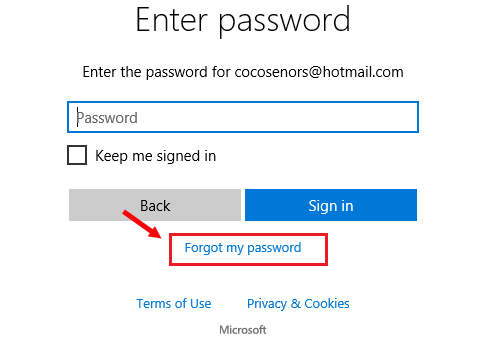 forgotten password on hp laptop windows 8