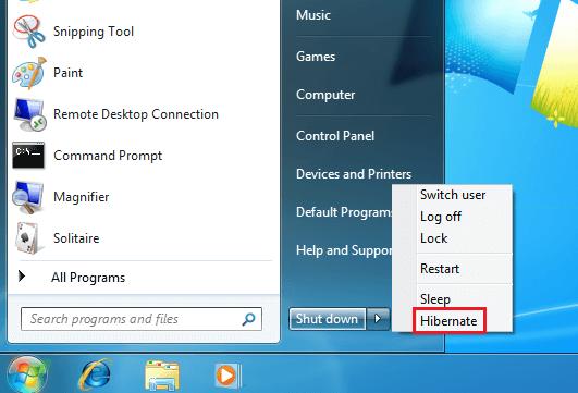 How to Enable and Disable Windows 7 Hibernate, Hybrid Sleep