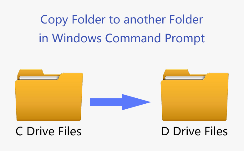 How to Copy Folder to another Folder in Windows Command Prompt