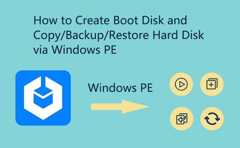 How to Create WindPE Boot Disk and Copy Windows to New Hard Disk