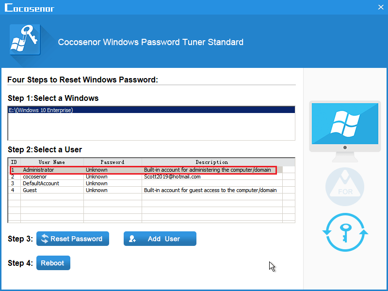 forgot administrator password on asus laptop