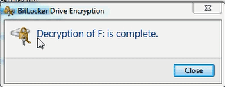 decryption is completed