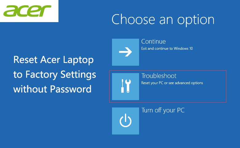 3 Ways to Reset Acer Laptop to Factory Settings without Password