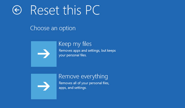 mantener o eliminar archivos