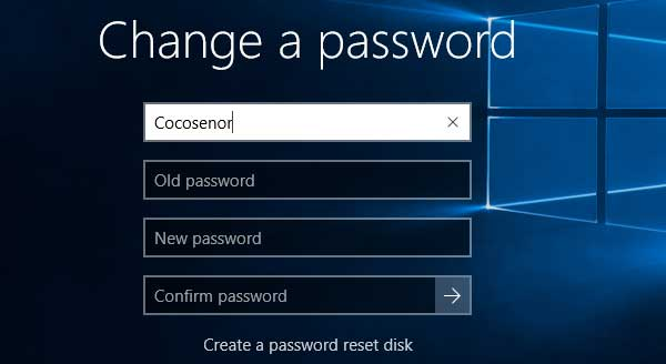 ctrl alt del windows 10 change password�������