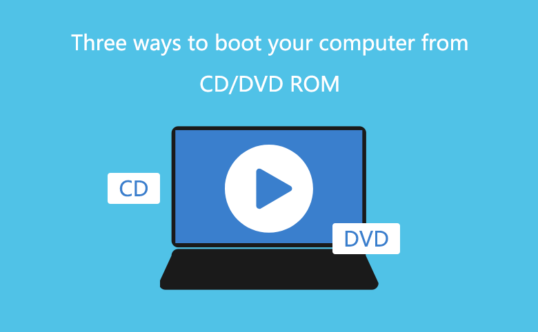Three ways to boot your computer from CD/DVD ROM