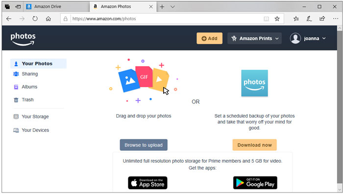 Amazon Drive Free Online Storage To Back Up Files
