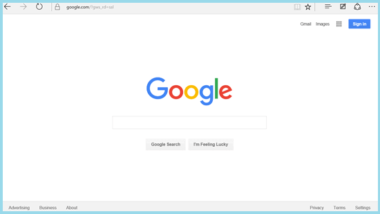 open google with edge