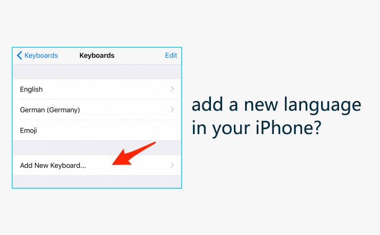 How to add a new language in your iPhone