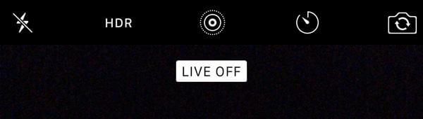 turn off Live Photo