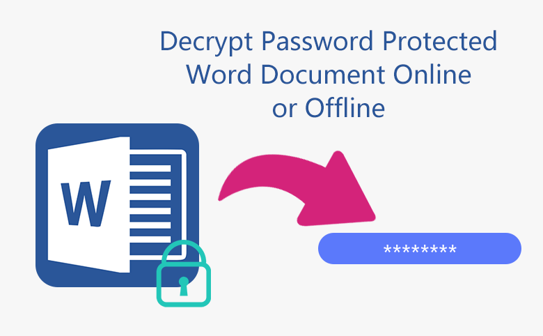 3 Ways to Decrypt Password Protected Word Document online or offline