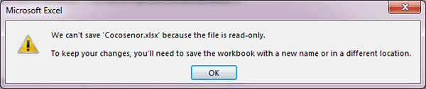 how to save an excel file as read only 2013