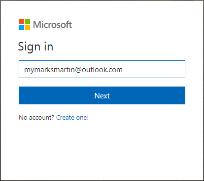 Outlook account recovery