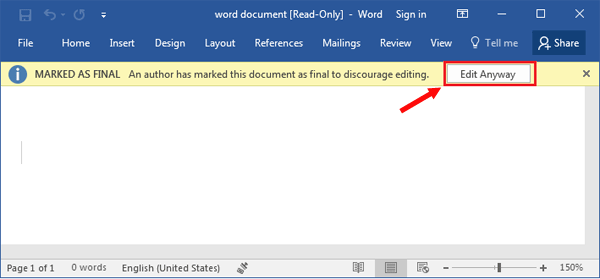 microsoft word 2013 unlock selection