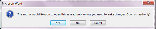 how to switch a word document from read only