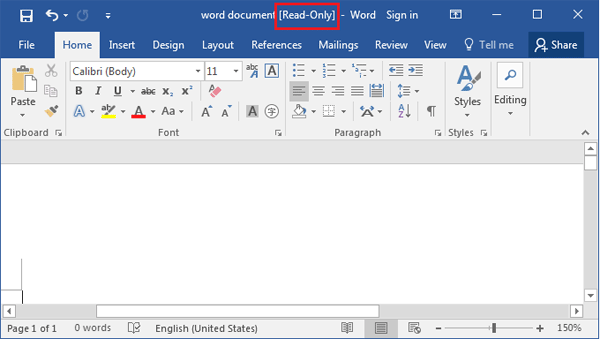 ms word selection is locked