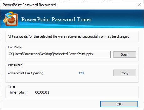 ppt file encrypted password is recovered