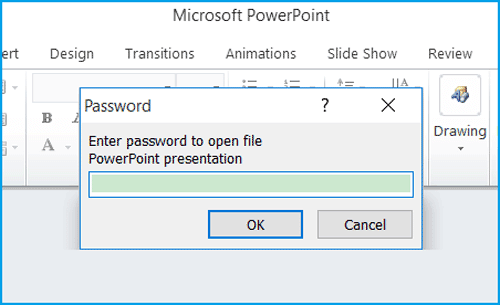 unlock ppt presentation with password