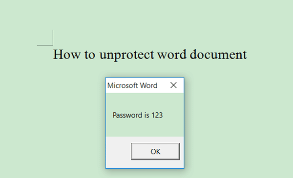 ms word encryption remove