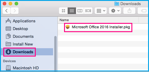 Options to install and activate Office 2016 on Mac or Windows PC