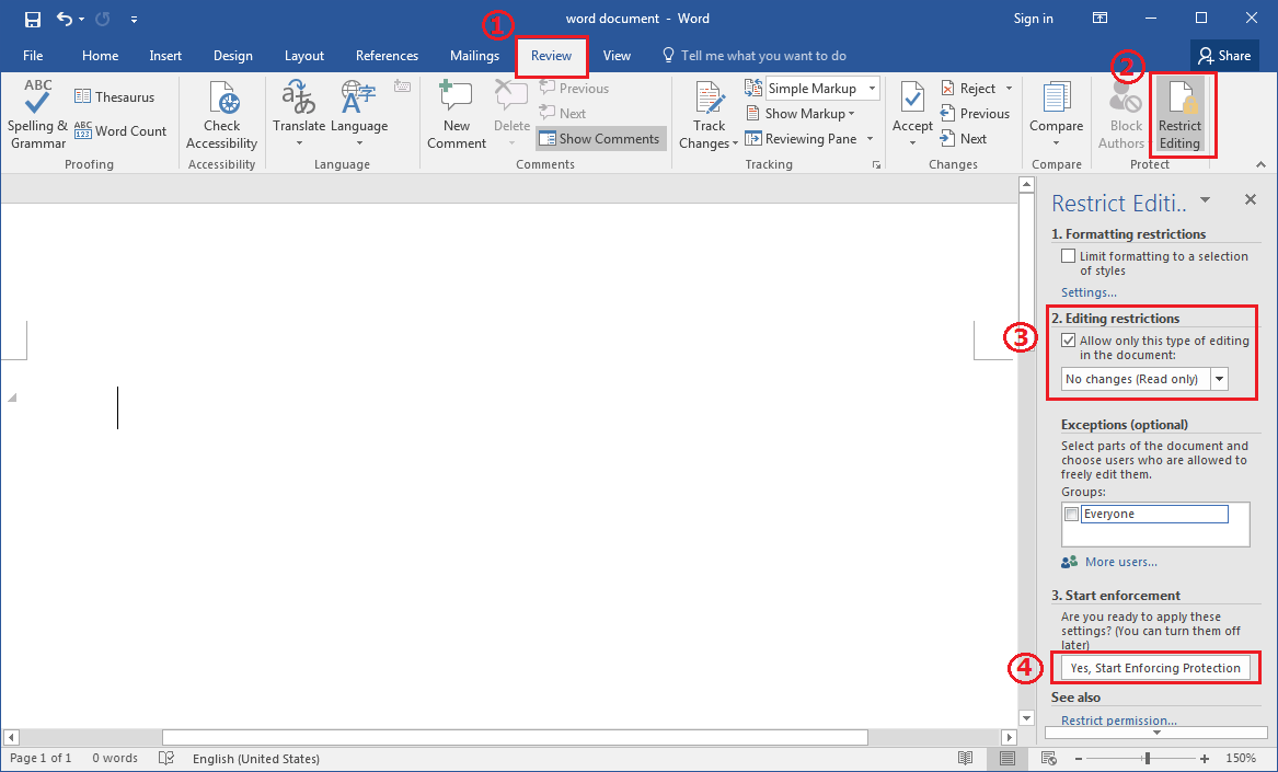 how to edit a read only word document 2013