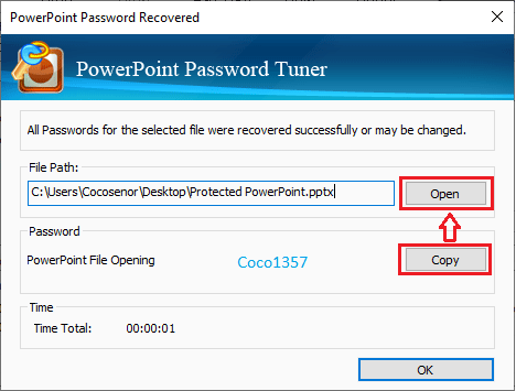 ppt file password is recovered