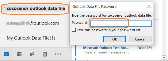 activate outlook data file