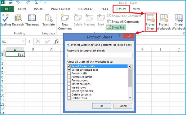 password protect excel file from viewing