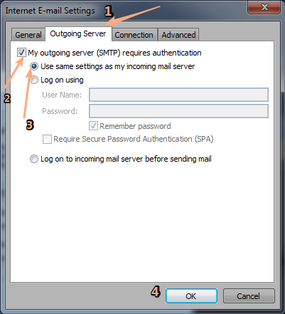 yahoo pop mail settings for outlook 2010