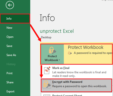 excel vba unprotect workbook structure with password