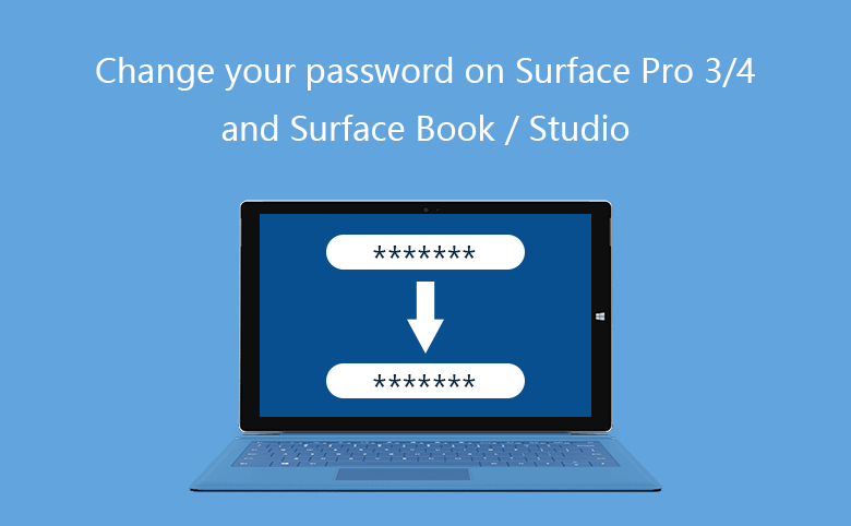 5 Options to Change Password on Surface Pro 3/4, and Surface