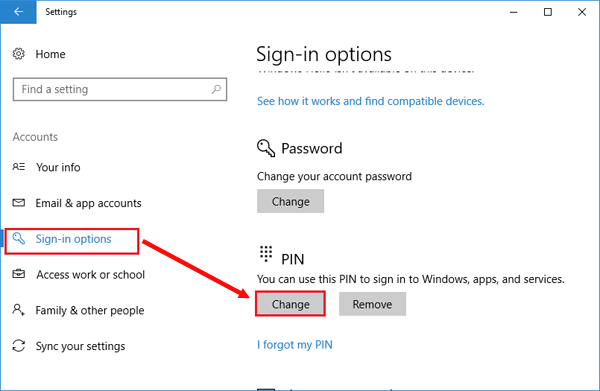 5 Options to Change Password on Surface Pro 3/4, and Surface Book/Studio