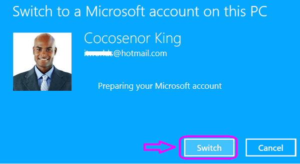 how to change microsoft account on surface pro