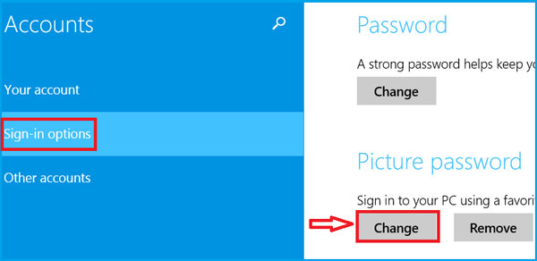 change picture password