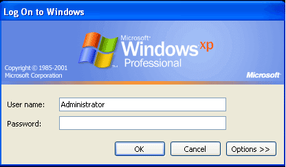 bring out administrator account