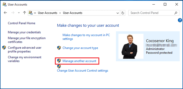 how to change the administrator name on windows 10