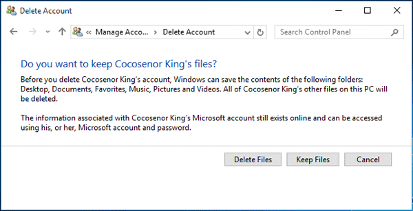4 ways to remove Microsoft account or Local account from