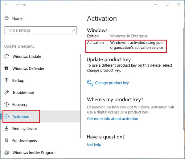 windows activation days remaining