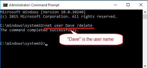 deactivate admin account windows 10