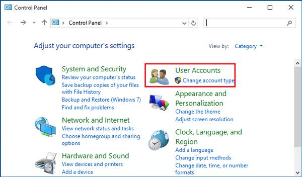how to setup administrator account windows 10