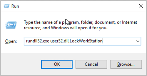 type the command in run windows