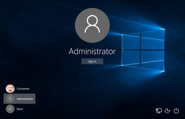 built in administrator account