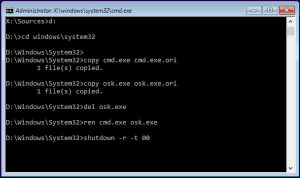 3 Ways to Bypass Administrator Forgotten Password on Windows 10
