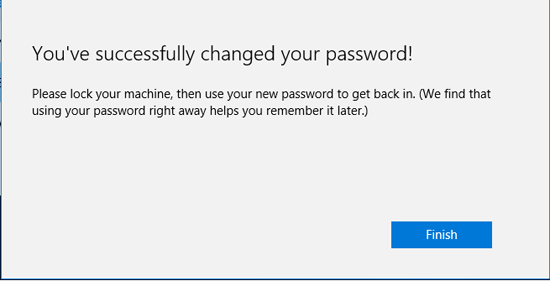 password changed sucessfully