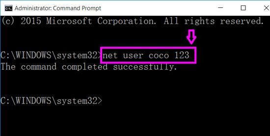 net user change local password