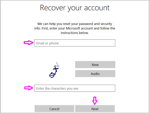 recover your account