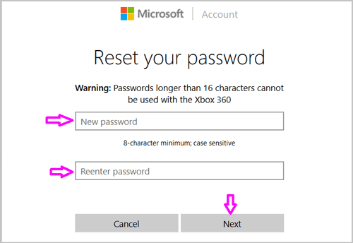 microsoft account sign in forgot password