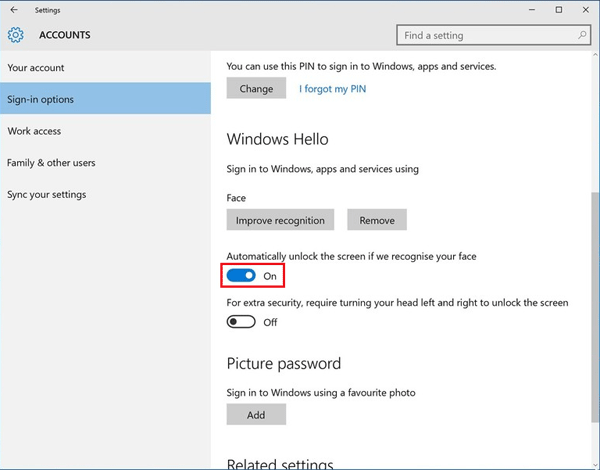 How to enable and set up Windows Hello in Windows 10
